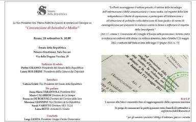 INVITO - Convenzione di Istanbul e media
